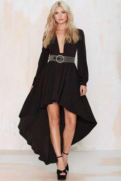 Nasty Gal Flying High Asymmetric Dress Black Strappy Dress d7127626b
