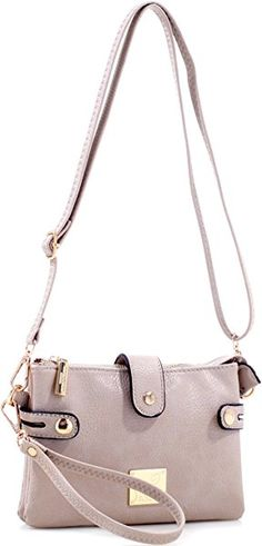 Multi-Compartment Crossbody Clutch Bag - Beige  Handbags  Amazon.com 971839937ac5d
