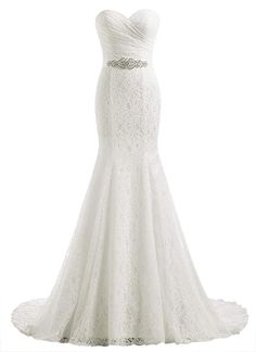 online shopping for Beautyprom Women's Lace Mermaid Bridal Wedding Dresses from top store. See new offer for Beautyprom Women's Lace Mermaid Bridal Wedding Dresses Bridal Dresses Uk, Bridal Wedding Dresses, White Wedding Dresses, Bridesmaid Dresses, Lace Wedding, Wedding Simple, Summer Wedding, Wedding Ushers, Beaded Dresses