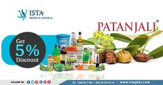 Get 5% #Discount on #patanjali #products #ISTA #Medical #General www.istaplus.com