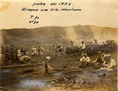1924 - Acampamento militar no bairro de Vila Mariana.