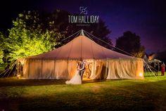 A summer night #Wedding #ukwedding #love #tomhallidayphoto #summer #night #vibrant #kiss #bride #groom