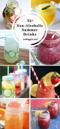 Non- Alcoholic Summer Drinks – Kuchen-Rezepte Fruit Drinks, Yummy Drinks, Healthy Drinks, Eat Healthy, Healthy Life, Refreshing Summer Drinks, Summertime Drinks, Non Alcoholic Cocktails, Drinks Alcohol Recipes
