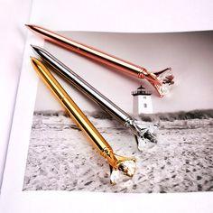 Exkluzív kristály köves fém toll