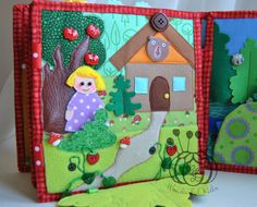 Goldilocks and the Three Bears  quiet book page Personal