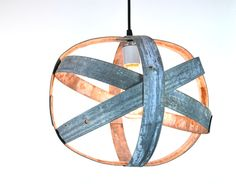 Small Wine Barrel Ring Hanging Lantern  by winecountrycraftsman, $80.00