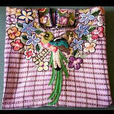 Vintage Guatamala Huipil Tunic in Lavender #presentlyin #peru #guatemala #huipil #vintage #antique #handstitched #lavendar #fashionstatement #tunic #fashioninspo #boho #tribal #tribalchic #bohochic #textiles #handmade #freeshipping