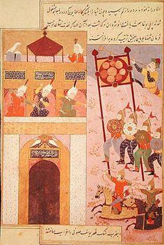 Tamerlane Besieging Urganj - Konye-Urgench - Wikipedia