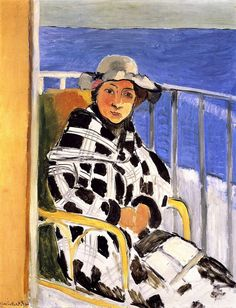 Mlle Matisse in a Scottish Plaid Coat Henri Matisse - 1918