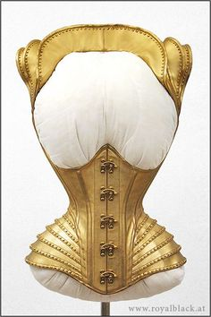 Historical leather corset