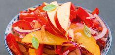Surówka z papryki i brzoskwini Watermelon, Fruit, Food, Essen, Meals, Yemek, Eten