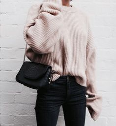 casual winter style sweater fashion