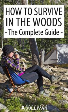 Everything you need to know about surviving in the woods for short or long periods of time, with or without a permanent shelter. #survival #wilderness #SHTF