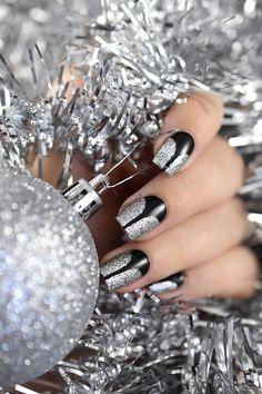 Marine Loves Polish: Classy festive stiletto nail art [VIDEO TUTORIAL] - What's Up Nails stiletto stencils - A England Merlin