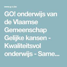 Website van de Vlaamse Gemeenschap Gelijke kansen Onderwijs GO! #leerkracht Website, Seeds