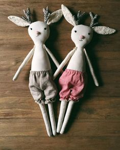 Sister jackalopes in bloomers are the cutest!