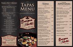 Basque Norte Tapas Menu