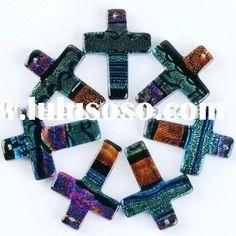 fused glass crosses