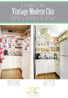 An organized pantry doesn't have to be boring - in addition to great organization, my pantry has a cool vintage, modern, chic look that you've got to see!