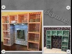 DIY Dollar Tree/Walmart Desk or Dresser Hutch/Vanity Dollar Tree Decor, Dollar Tree Crafts, Dollar Tree Finds, Dollar Tree Organization, Diy Organization, Organizar Closet, Plastic Crates, Crate Shelves, Milk Crate Storage