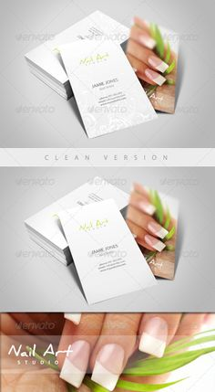 Nail Art/Manicure Business Card - GraphicRiver Item for Sale