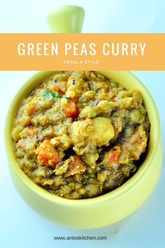 Green peas carrot potato curry is an easy, healthy and flavorful side dish with spices and coconut. It goes well with the chapati, puri, and dosa. Vegetarian Chinese Recipes, Indian Food Recipes, Asian Recipes, New Recipes, Healthy Recipes, Vegetarian Lunch, Healthy Foods, Curry Recipes, Kitchens