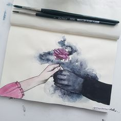 The Shadowsinger and The Flower art Art Sketches, Art Drawings, Art Et Design, Art Manga, Arte Sketchbook, Art Plastique, Art Tips, Art Inspo, Painting & Drawing