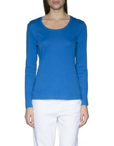 Classic rib t Blouse, Long Sleeve, Classic, Sleeves, Cotton, T Shirt, Clothes, Tops, Women