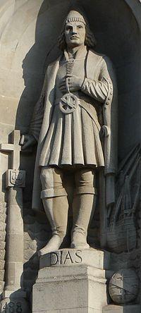 Bartolomeus Diaz - Geboren rond 1450, gestorven op zee in de buurt bij Kaap de Goede Hoop 29 mei 1500. Was zeevaarder en ontdekkingsreiziger die Kaap de Goede Hoop heeft ontdekt.