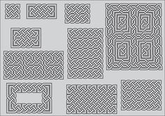 C ...... for Celtic knots ( using Celtic Knot fonts)