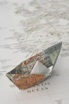 How to fold a map paper boat. Step-by-step photo and written tutorial. Foto Top, Wanderlust, Map Globe, Travel Aesthetic, Gold Aesthetic, Adventure Is Out There, Belle Photo, Aesthetic Wallpapers, Paper Crafting