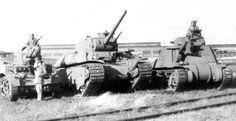 M3 Light Tank, M3 Medium Tank, and prototype M6 Heavy between them