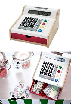 DUKTIG toy cash register - Your child will have fun pretending to shop with their friends, while they also learn about counting and money. The fully functional calculator can really add up their make believe purchases.