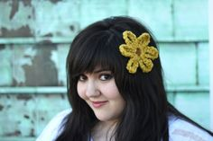 Mod Flower Hair Clip. LOVE these and want to make a million more!