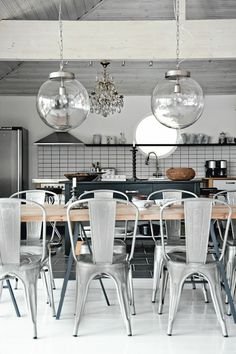 industrial glam kitchen