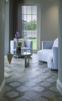 Ash Grey Mansion Weave flooring from Element7 in a classic design by Icon Interiors www.element7.co.uk