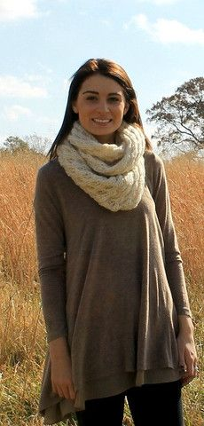 Baby it's Cold Outside Infinity Scarf in Beige – Downtown Betty Boutique