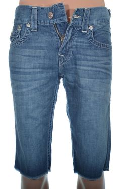True Religion Mens Short Size 29 Straight Cut Off W Flap Grey Dog NWT $209 #TrueReligion #Denim