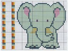 graficos de elefantes baby em ponto cruz - Pesquisa Google