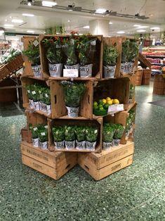 Waitrose - Laden - #Laden #Waitrose Gift Shop Displays, Craft Fair Displays, Market Displays, Store Displays, Retail Displays, Display Ideas, Garden Center Displays, Farmers Market Display, Produce Displays