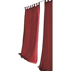 """Bay Isle Home Tiburon Indoor/Outdoor Single Curtain Panel Size: 52"""" W x 108"""" L, Color: Red"""