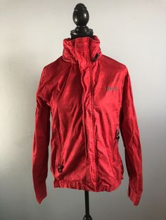 Bench Bbq Full Zip Jacket Red With Hide A Way Hood Medium  | eBay Red Leather, Leather Jacket, Hooded Jacket, Bbq, Bench, Medium, Jackets, Fashion, Studded Leather Jacket