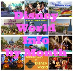 Info for every month - Disney World park hours, refurbishments, discounts, crowd levels