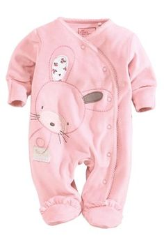 Buy Pink Bunny Velour Sleepsuit from the Next UK online shop Disney Baby Clothes, Trendy Baby Clothes, Baby Kids Clothes, Baby Disney, Baby Outfits Newborn, Toddler Outfits, Baby Boy Outfits, Kids Outfits, Newborn Girls