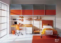Space saving bedroom furniture for kids - Bedroom A Modern Kids Bedroom, Master Bedroom Interior, Kids Bedroom Designs, Kids Room Design, Small Room Bedroom, Home Bedroom, Bedroom Ideas, Design Bedroom, Bedroom Boys