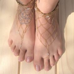Fashion Gold Fishnet Shaped Ankle Chain