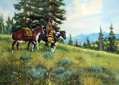 Western Artist Ron Stewart Water Color titled Changing