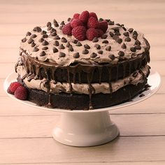 Bake a stunning chocolate brownie layer cake using a brownie mix and homemade whipped cocoa topping with this easy recipe. Serve for any special occasion. Easy Brownie Cake Recipe, Brownie Recipes, Cupcake Recipes, Cupcake Cakes, Dessert Recipes, Brownie Trifle, Cupcakes, Holiday Desserts, Easy Desserts