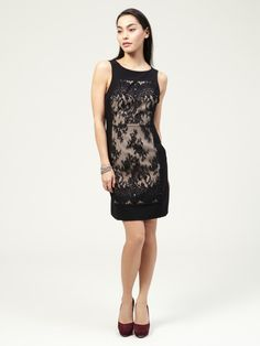 Something about this dress....supersexy!  Embroidered Lace Panel Shift by Tracy Reese on Gilt.com