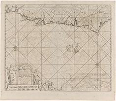 Anonymous | Zeekaart van een deel de Golf van Biskaje bij Bilbao, Anonymous, Claes Jansz Voogt, Johannes van Keulen (II), 1734 - 1803 | Zeekaart van het gedeelte de Golf Biskaje in de omgeving van Bilbao, met drie kompasrozen. Rechtsonder een inzet met een detailkaart van de de rivier Nervión. Linksonder enkele watergoden, zeemeerminnen en een vrouw met een anker en een papegaai bij een cartouche met de titel, het adres van de uitgever en de schaalverdeling, weergegeven in Duitse, Spaanse en…